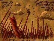 Red licorice stalks