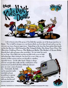 Kids Next Door Original Description