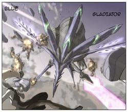 Blue Beetle Blue Gladiator