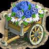 Flower garden blue