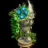 Vase festive deco blue