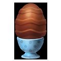 Chocolate egg dish