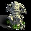 Monkey statue ears