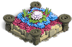 Flowerbed bluepink