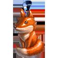 Coll christmas tree fox