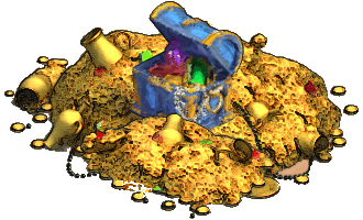 Image - Chest wooden 4 open treasure pile painted.png ...