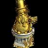 Gold snowman