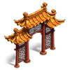 Chinese arch deco