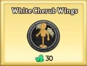 White Cherub Wings