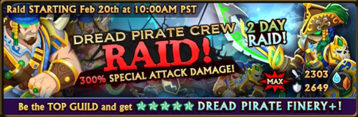 Dread Pirate Raid Banner