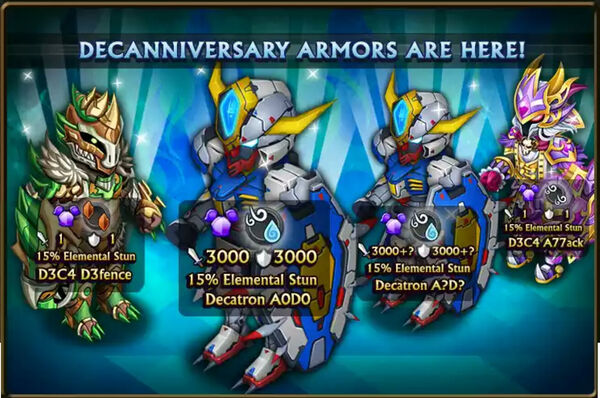 Decanniversary other armors