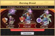 Burning Brawl Winners