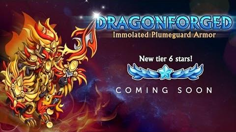 Knights and Dragons - DRAGONFORGED OFFICIALLY NEW EPIC 6-STAR ARMOR, NEW EPIC LEVEL!