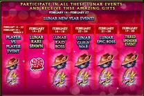 Lunar Valentine 2018 events