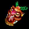 Shamanic Skyshield-Ritual Panthermask (Amulet)