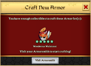 Wonderous Waistcoat Armor Craft Unlock