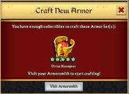 Orcus Blazegear New Armor Unlock