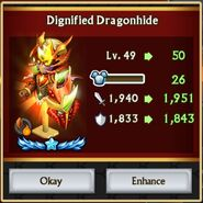 Dignified Dragonhide Level 50 Stats