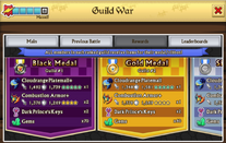Guild war rewards screen
