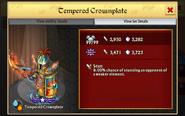 Tempered Crownplate 99 Lv