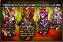 Lunar Valentine 2018 armors