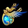 Checkered Rookplate-Charoite Savior (Amulet)