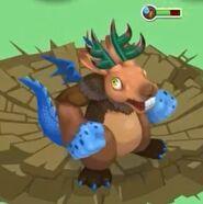 Jackalope Dragon on the battlefield
