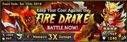 Fire drake banner