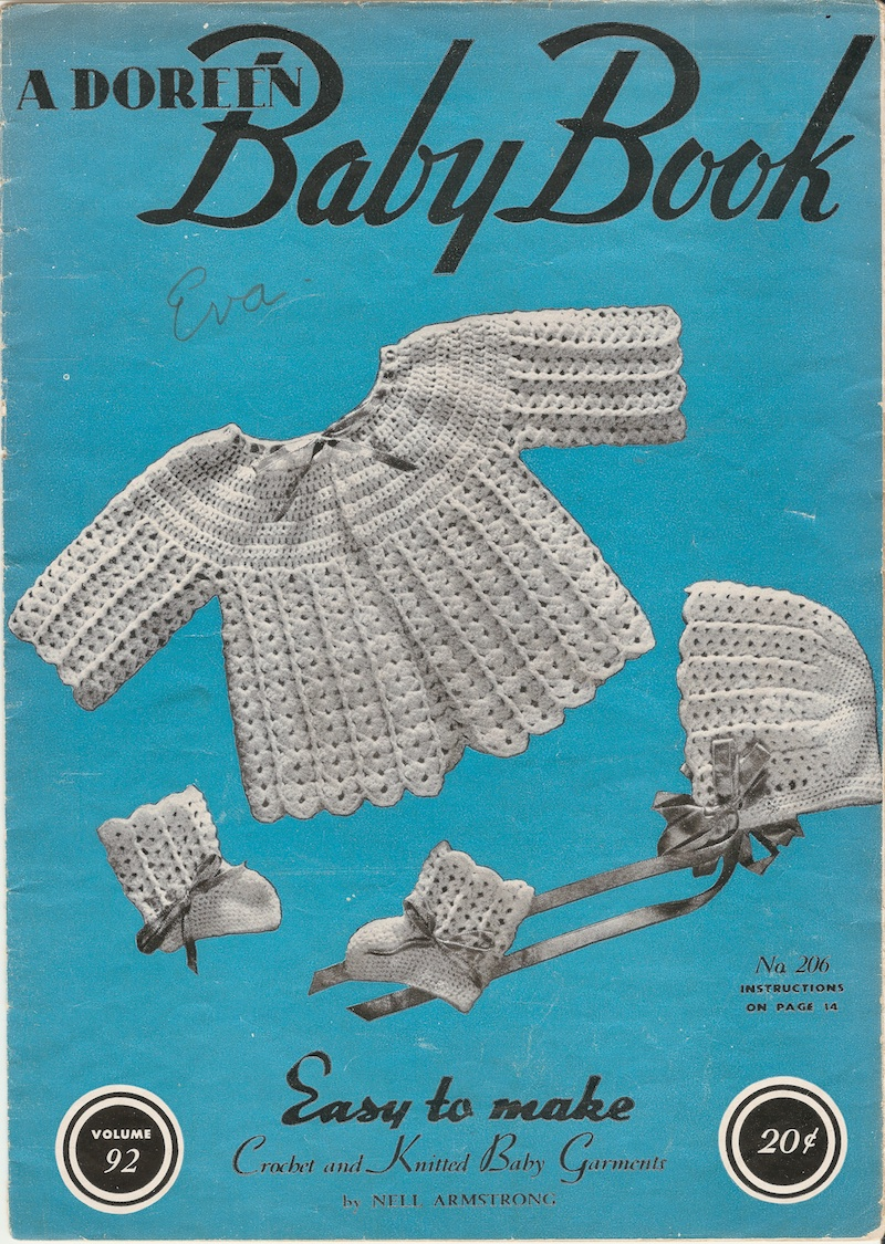 How To Make A Knitted Book Cover ~ Doreen baby book vol easy to make crochet and knitted baby