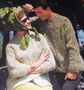 Spinnerin 166 His and Hers Sweater Knitting Patterns