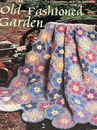Leisure Arts 2718 Old Fashioned Garden Crochet Afghans Knitting