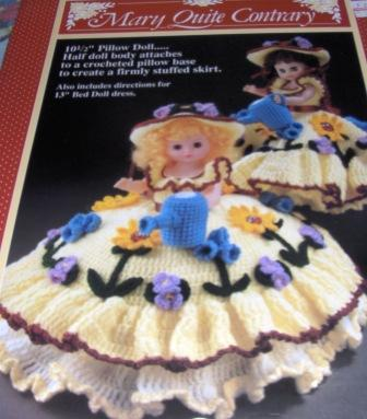 Fibre Craft Fcm165 Mary Quite Contrary Crochet Bed Doll Pattern