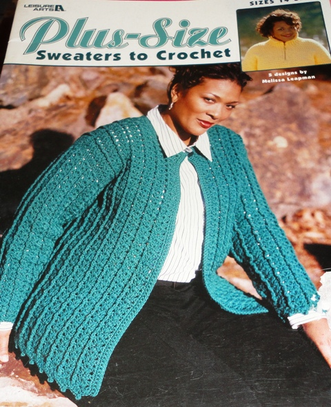 Leisure Arts 3530 Plus Size Sweaters To Crochet Knitting And