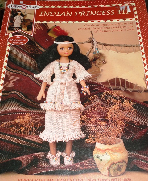 Fibre Craft Fcm442 Indian Princess Knitting And Crochet Pattern