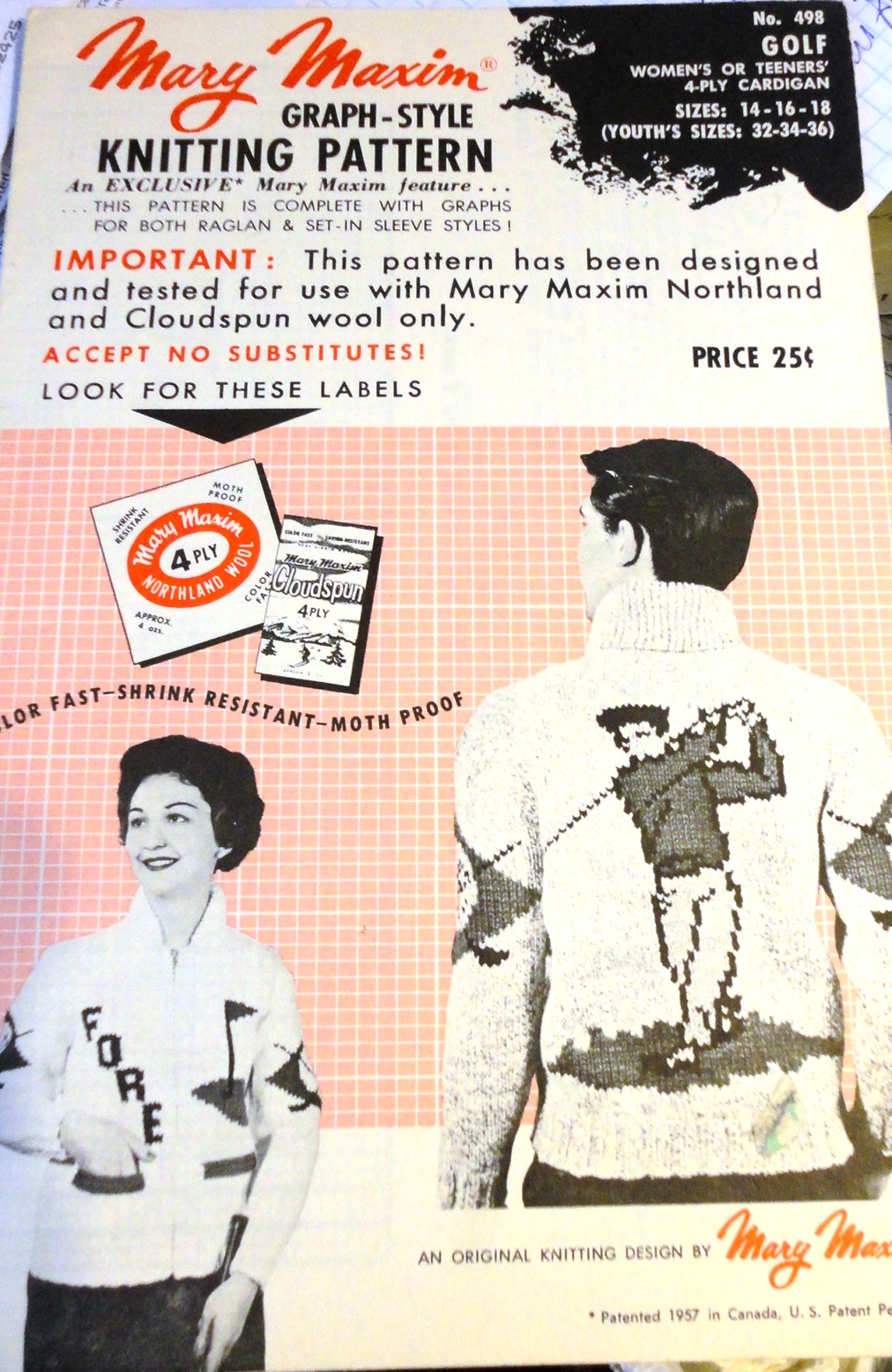 Mary Maxim 498 Golf Sweater Knitting And Crochet Pattern Archive