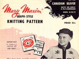 Mary Maxim No. 456 Graph Style Knitting Pattern Canadian Beaver