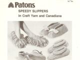 Patons No. 304 Speedy Slippers in Craft Yarn and Canadiana