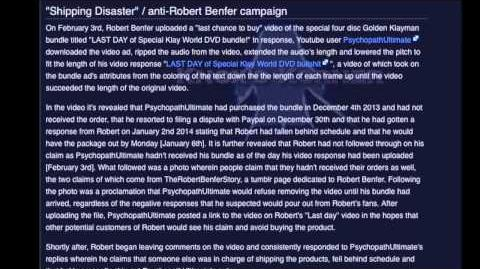 Another Video for Robert Benfer