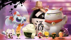 Kobushi characters promotional artwork