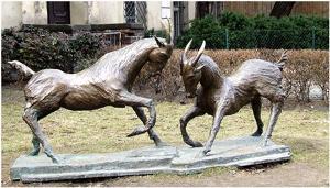 Koziołki - rzeźba