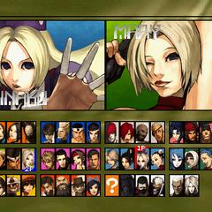 otro select screen de la version ps2 junto con los personajes ocultos