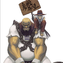 Neo Geo Battle Coliseum artwork de Chang Koehan y Choi Bounge.