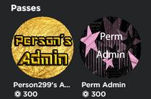 Perm Admin Game Passes