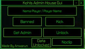 Roblox Kohls Admin Commands Gear Kohls Admin House Gui Kohls Admin House Wiki Fandom