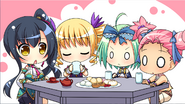 Aisha tea party with Gi members