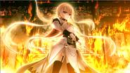 Erika in fire