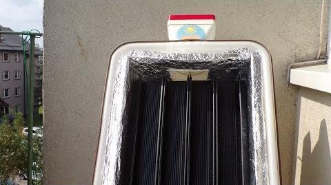 Kolektor solarny powietrzny ożebrowany AilettoCap (samokonstrukcja)