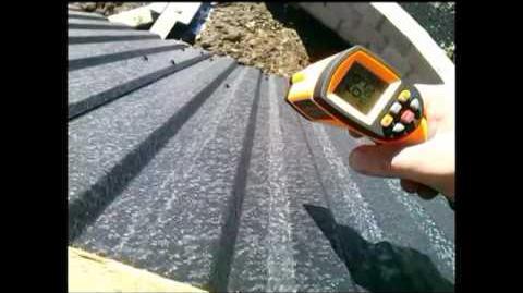 Słońce ,darmowa energia... Test nagrzewania blachy na dachu