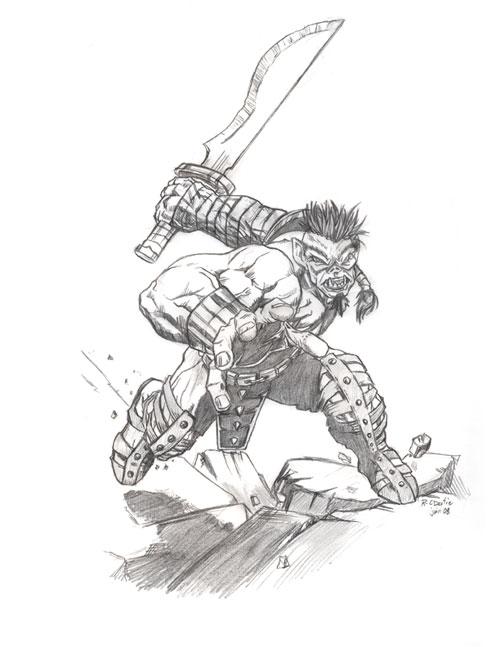 Orc01 barbarian