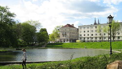 Park Staromiejski w Łodzi - staw